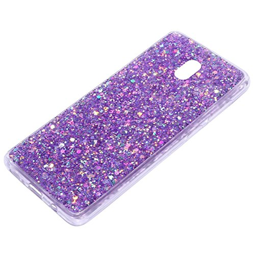 Sottile MoreChioce J7 Galaxy Bling Morbid Galaxy viola J7 Case Cover J730 Silicone version in Glitter 2017 Custodia Strass Copertura TPU Silicone 2017 J730 Sequins European Silicone Bling Transparent Ultra EF7xq0