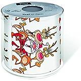 1 Toilettenpapier bedruckt 200 Blatt Weihnachten Elch Rudolph Rentier Christmas Badartikel
