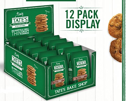 Price comparison product image Tate's Bake Shop - Tiny Tate's Bite Size Chocolate Chip Cookies (Each bag contains 10 -12 bite size cookies, Eight 1oz Bags) (Pack of 8)