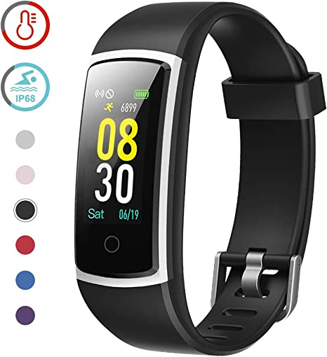 YAMAY Fitness Tracker with Blood Pressure Monitor Heart Rate Monitor,IP68 Waterproof Activity Tracker 14 Mode Smart Watch with Step Counter Sleep ...