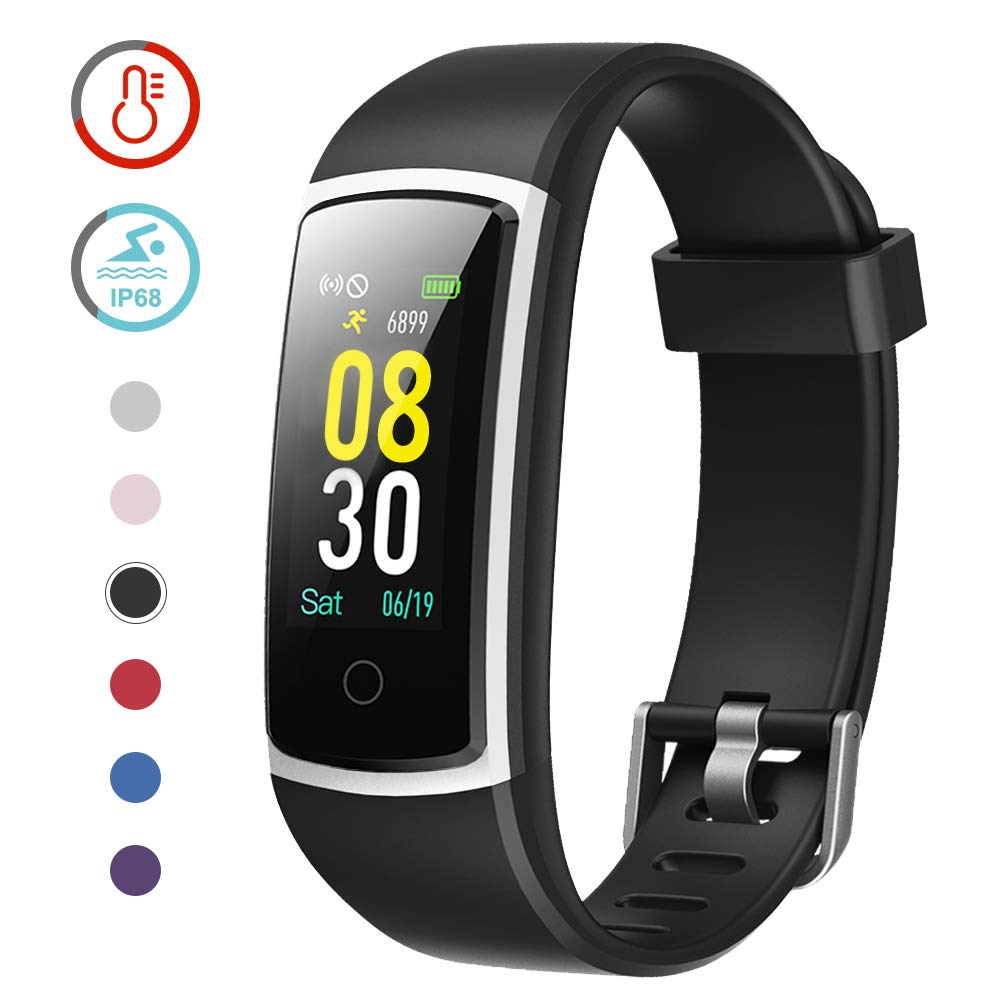 YAMAY Fitness Tracker with Blood Pressure Monitor Heart Rate Monitor,IP68 Waterproof Activity Tracker 14 Mode Smart…