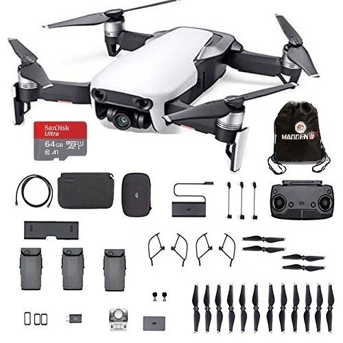 DJI Mavic Air Fly More Combo Arctic White Portable Quadcopter Drone with 64GB SD Card Extra Propellers and More … Arctic White Sphere