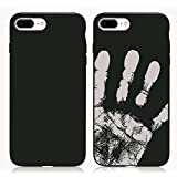 TechStuph® Colour Changing Thermal Phone Cases, iPhone 6,6+,7,7+ Available, Latest V2 Version of Thermal Casing With Improved Strength and Colour Changing Properties (iPhone 7+, Black - Grey)