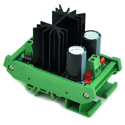 - Electronics-salon DIN Rail Mount Step-down Positive 1.25~37V DC Adjustable Voltage Regulator Module.