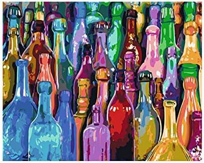 WAZHCY Peinture Acrylique avec brosses Bouteilles de bière colorées  abstraites pour Adulte sur Toile Bricolage Peinture à l'huile Kit-sans  Cadre 40x50 cm: Amazon.fr: Cuisine & Maison