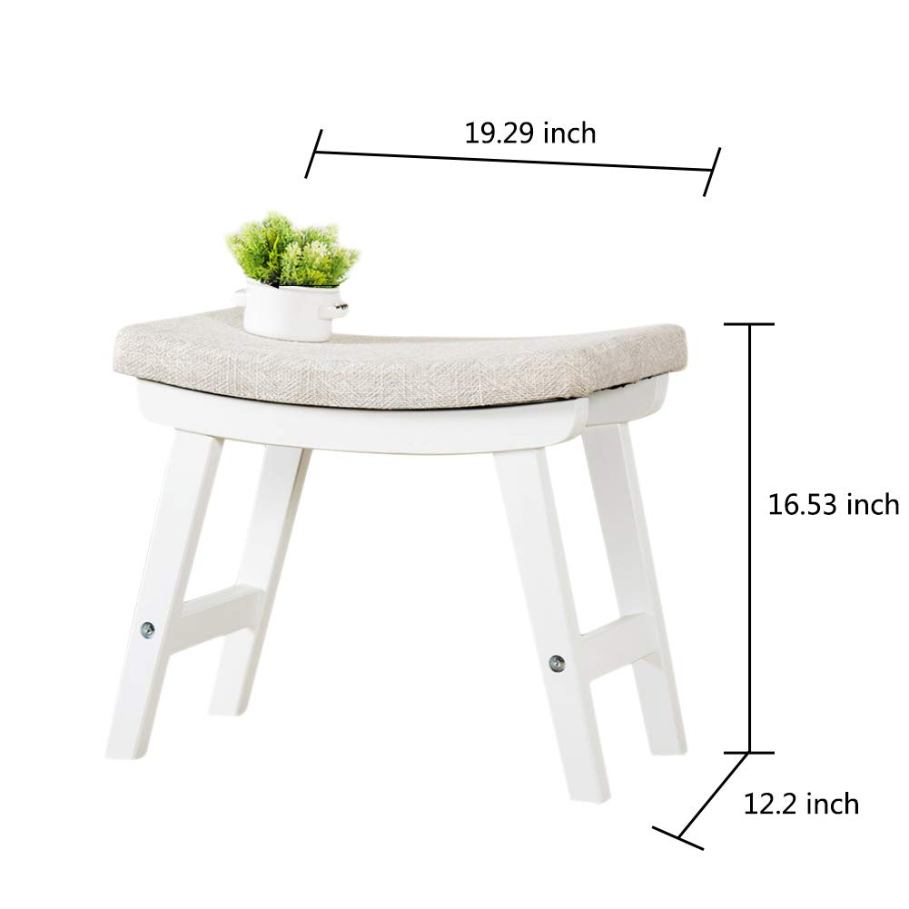 Super Amazon Com Fitlyiee Modern Vanity Stool With Thick Padded Theyellowbook Wood Chair Design Ideas Theyellowbookinfo