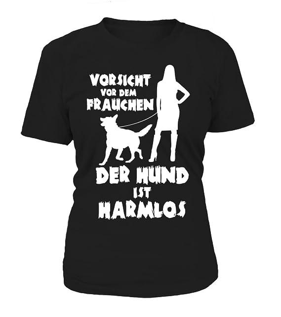 """T-Shirt mit Motiv /""""Vorsicht vor dem Frauchen/"""" 100/% Baumwolle NEU"""