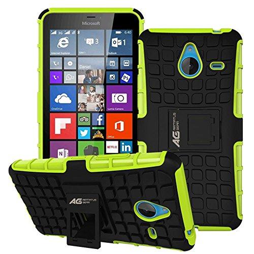 "Microsoft Lumia 640 XL Case - Armatus Gear (TM) Pixel Rugged Hybrid Armor Case Shockproof Tough Cover Protector TPU + Rubberized PC with Kickstand For Microsoft Nokia Lumia 640 XL 5.7"" - Green/Black"