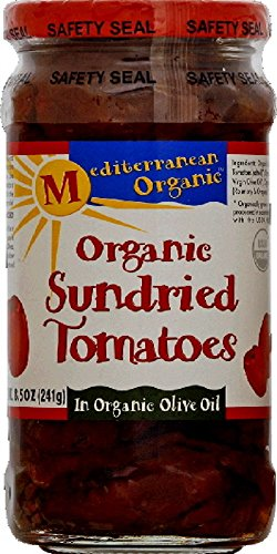 Mediterranean Organic Tomatoes, Sun-Dried in Olive Oil, Organic, 8.5-Ounce Jars (Pack of 6)