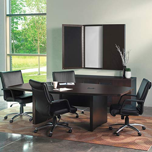 Mayline ACTB8LDC Aberdeen 8' Boat Shape Conference Table, Mocha Tf Boat Top Conference Table