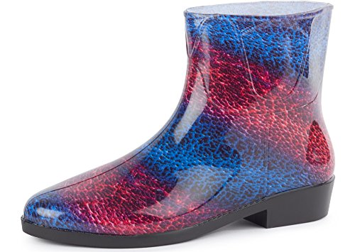 Ladeheid Women's Ankle Rubber Wellington Boots LAZT201801 Pattern-23