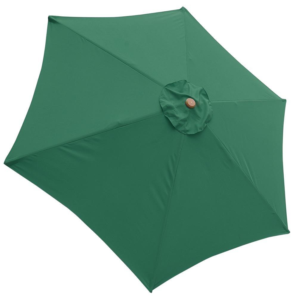 Amazon.com : 9\' Patio Umbrella Replacement Canopy 6 Rib Outdoor Yard ...