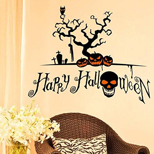 Brave669 Clearance Deals!!Halloween Decor Decal Pumpkin Skull Removable Home Bar Shop Wall Sticker