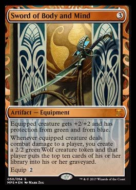 FOIL SWORD OF BODY AND MIND Masterpiece Series Kaladesh Inventions Magic MTG