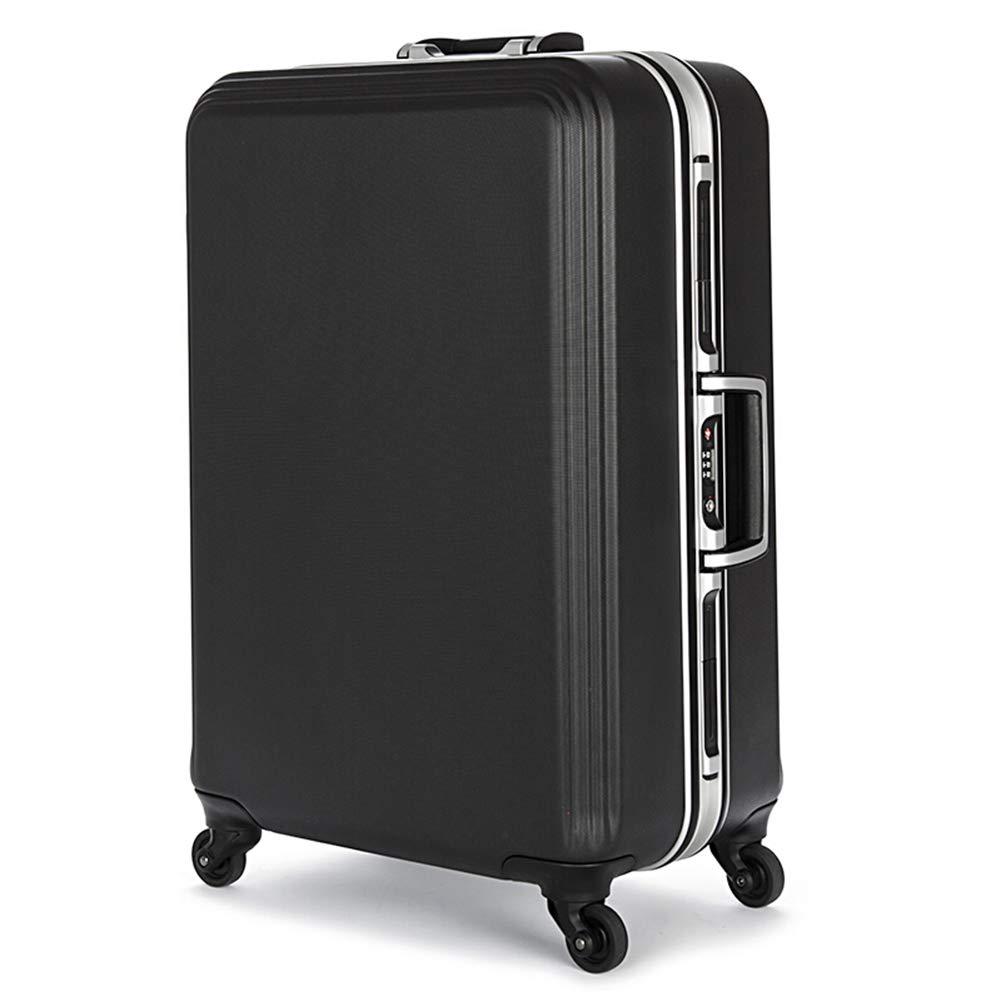 Z&YY トロリーケース アルミフレーム キャスター ラゲッジ ビジネス ディープ ボックス スーツケース メンズ レディース ボーディング ブラック ブルー (20 インチ 22 インチ 24 インチ) 24 inches ブラック Z&YY 24 inches ブラック B07L1P9YCJ