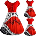 Summer Dress,Jushye Sexy Plus Size Music Note Print Hollow Out Bandage Short Sleeve Evening Party Prom Dress