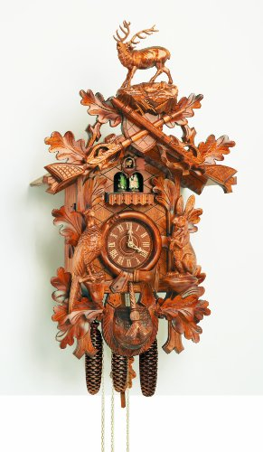 Cuckoo Clock 8 Day Musical Hunter Style
