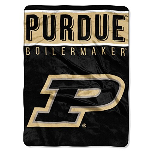 The Northwest Company Officially Licensed NCAA Purdue Boilermakers Basic Raschel Throw Blanket, 60
