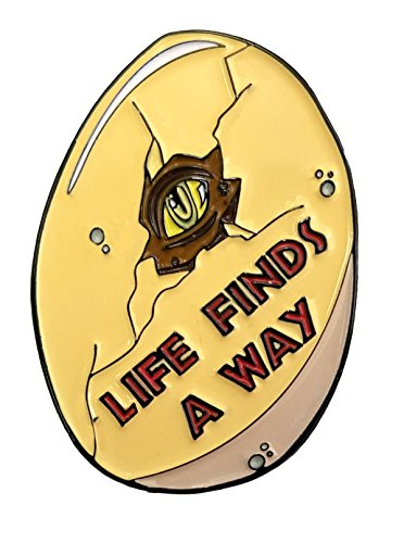 Life Finds A Way Egg Baby Dinosaur Trex Raptor Movie Quote 1.25
