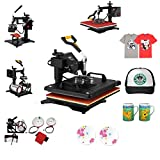 Arts & Crafts : Mophorn Heat Press 12 X 15 inch 5 in 1 Desktop Iron Baseball Hat Press Dual Digital Transfer Sublimation Multifunction Heat Press Machine Swing Away Design (12 by 15 inch 5 in 1)