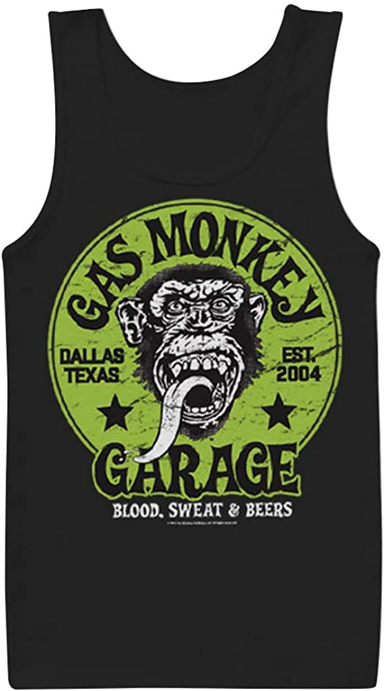 Gas Monkey Garage - Camiseta de Tirantes - Eslogan - Sin Mangas ...