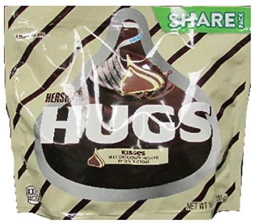 HERSHEY'S HUGS & KISSES Chocolate Candy, 10.6 oz Bag]()