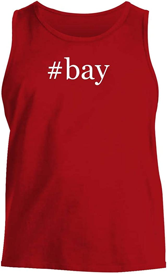 #bay - Men's Hashtag Comfortable Tank Top, Red, Small