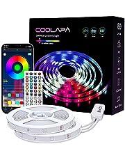 COOLAPA taśma LED RGB 5050, taśma LED z 40 przyciskami, pilot zdalnego sterowania na podczerwień, aplikacja sterowana, tryb muzyczny, 12 V, 360 diod LED, synchronizacja z muzyką, oświetlenie domu, na imprezę, do kuchni, 2 rolki 10 m
