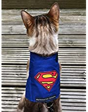 Mynwood Cat Jacket/Harness Superman Adult Cat - Escape Proof