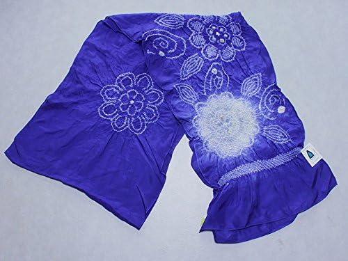 正絹兵児帯 青色の帯 絹のへこ帯 浴衣用 七五三用 ちょっぴり理由あり D0608-07