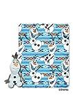 Frozen,Olaf Dance Hugger and Fleece Throw Blanket Set, 40'' x 50''