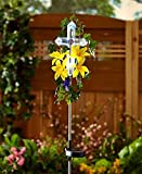 Solar Lily Cross Stake White (Yellow Lilly)