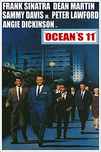 American Gift Services - Vintage Rat Pack Dean Martin Frank Sinatra Movie Poster Oceans 11-24x36