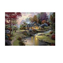 Printed Thomas Kinkade landscape oil painting prints on canvas wall art picture for home decorations 20x30 Inch