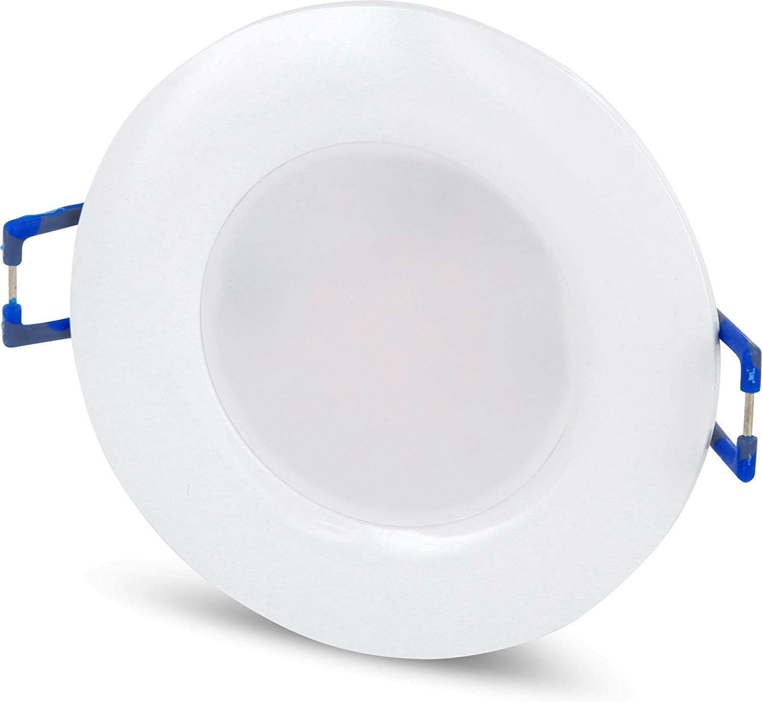 Spot LED IP18 encastrable rond ultra-plat - 18 V - 18 W - Diamètre : 18 mm  - Transformateur LED intégré Moderne Tagesweiß (18 K)