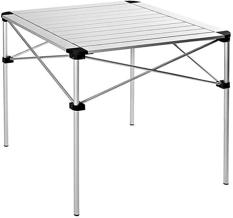 KingCamp Mesa Plegable de Aluminio portátil, Muy Ligera y Estable ...