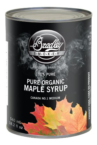 Bradley Smoker MAPLE SYRUP Pure Organic Maple Syrup 540 ML Grade 1, Medium