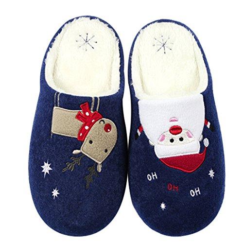 Skid Zapatillas Nieve Zapatillas Impreso Muñeco Para Casa Marino Reno Anti Parejas Zapatillas Navidad fascigirl de De xwvrqgw7Y