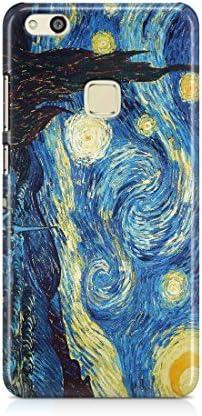 CP Cover Custodia Dipinti per Huawei P10 Lite, Notte Stellata Arte Quadro Case Protezione Artwork