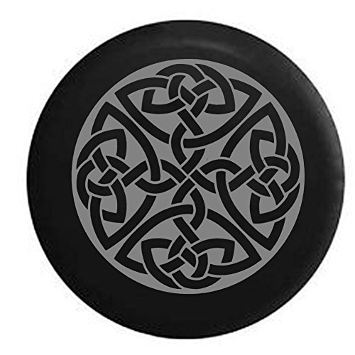- Stealth - Celtic Cross Knot Irish Shield Warrior Jeep Spare Tire Cover Black 32 in