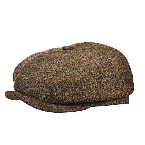STETSON BRITISH INSPIRED WOOLEN PLAID HERRINGBONE 8/4 CAP (STW204)