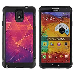 Suave TPU GEL Carcasa Funda Silicona Blando Estuche Caso de protección (para) Samsung Note 3 / CECELL Phone case / / Orange Hot Abstract Polygon /