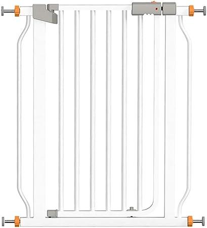 KSWD Metálica Barrera de Seguridad para niños Sin taladrar, 68-75cm, 76-83cm Niños Mascotas Bebé Puerta de la Escalera para Puertas Escaleras Extensible Blanco,S: Amazon.es: Hogar