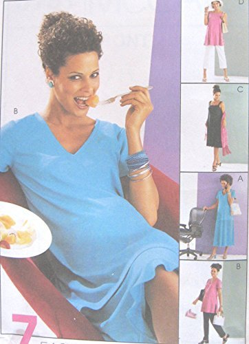 - Misses Maternity Knit Dress Top Pull On Skirt Pants Sewing Pattern Elastic Waist McCall 3131 Size XS-S-M 4-14