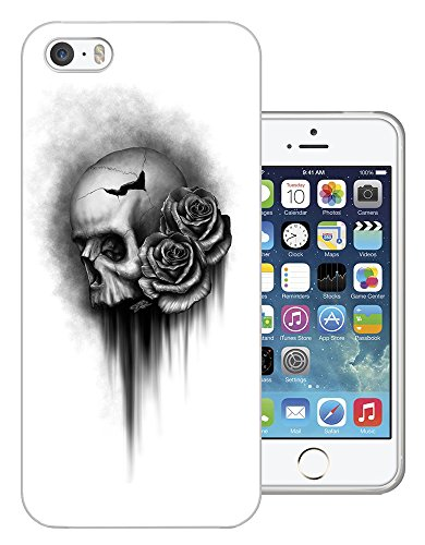 C0469 - Cool Fun Trendy Cute Floral Skull Tattoo Biker Sugar Skull Design iphone 6 6S 4.7'' Fashion Trend Protecteur Coque Gel Rubber Silicone protection Case Coque