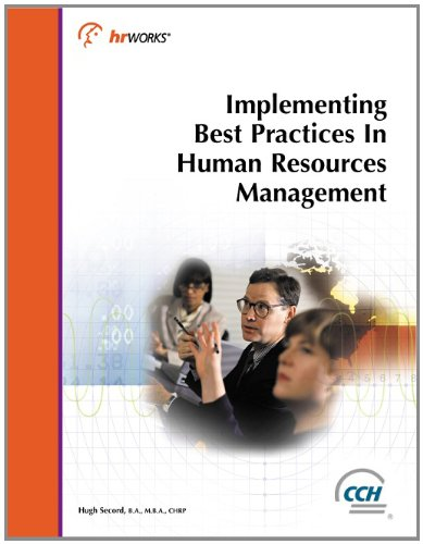 Implementing Best Practices in Human Resources Management (2003)