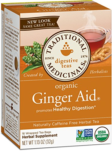 Traditional Medicinals Organic Ginger Aid Digestive Tea, 16 Tea Bags (Pack of -