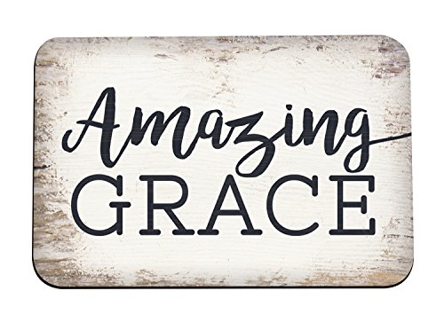 - Amazing Grace White Wash Distressed Wood Look 3 x 2 Inch Metal Magnet