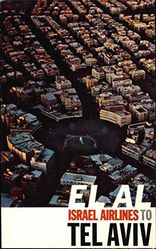 El Al Israel Airlines to Tel Aviv Aircraft Original Vintage Postcard