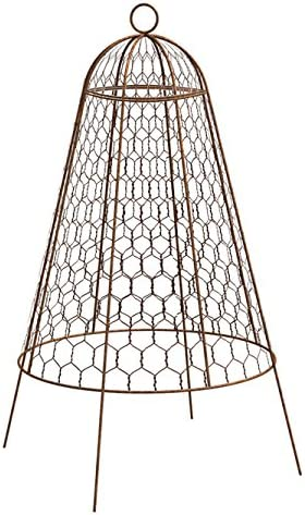 BestNest Set of Six Panacea 83280 Rustic Wire Garden Cloches, 20 H Each